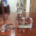 ガラス細工 ドームガラス イルカ・鹿買い取らせて頂きました